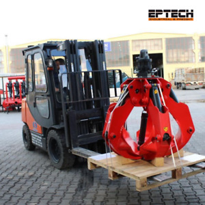New Excavator And Material Handler Grapple Attachment