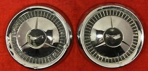 2 Vintage Chevrolet Chevy Hubcaps 1950s 1957 Dog Dish Bel Air 10 5 150 210