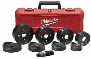 Milwaukee 49 16 2695 2 1 2 Inch To 4 Inch Conduit Knockout Set New W case