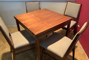 Edward Wormley Dunbar Flip Top Game Dining Table With 4 Chairs