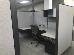 385 Herman Miller canvas Cubicle Stations 8x8 sold In Pods Of 4 399 Each
