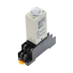H3y 2 Dc 12v Delay Timer Time Relay 0 60 Seconds With Base