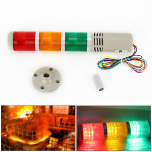 Alarm Warning Lamp Industrial Led Signal Tower Buzzer Red Green Yellow