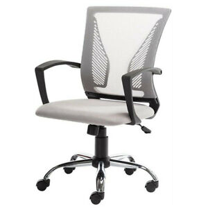Affordable Office Mesh Chair Mid back Swivel Computer Gaming Desk Chair Gray