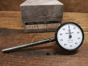 Mitutoyo No 1156 Plunge Back Dial Indicator 001 100 With Box