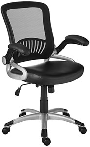 Office Star Breathable Screen Back And Bonded Leather Seat Managers Chair With