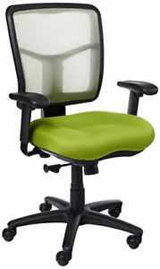 Office Star Fabric Seat And Mesh Back Manager s Chair With Adjustable Arms