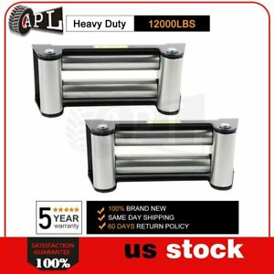 2x Winch Roller Fairlead 10 4 Way Roller Cable Guide Heavy Duty