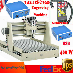 Usb 3 Axis 400w 3040 Cnc Router Engraver Engraving Drilling Milling Machine rc