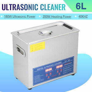 Electric 6l Ultrasonic Cleaner Machine 304ss With Digital Timer heater Us