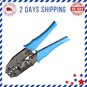 Ratcheting Wire Terminal Crimping Tool For Insulated Electrical Connectors New