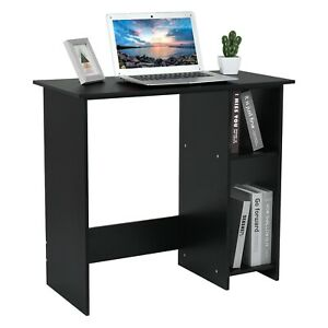 Computer Desk With Shelf Wood Small Home Office Study Pc Laptop Writing Table