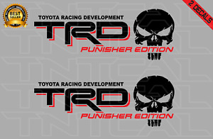 Trd Punisher Edition Decal Set Toyota Tacoma Tundra Vinyl Stickers Black Red