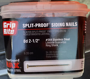 New Grip rite 5 Pounds 8d 2 1 2 Stainless Steel Siding Nail 304