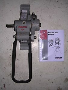 Ridgid 916 Roll Groover 975 300 300 Compact 535 1822 Pipe Threader 1 1 4 6 Pipe