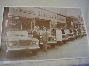 1959 Studebaker Cars In Front Newman Alman Dealer 11 X 17 Photo Picture