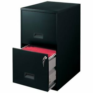 Filing Cabinet 2 Drawer Steel File Cabinet Lock Home Office Durable Black New