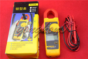 Fluke 303 Clamp Multimeter Ac dc Handheld 600a 30mm 4000 With Backlight New