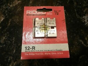 Ridgid Replacement Die Blades 1 2 For 12 r