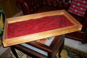 Vintage Wood And Glass Counter Display Case jewelry Knives