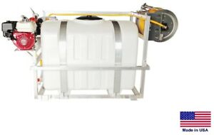 Sprayer Commercial Skid Mounted 9 5 Gpm 580 Psi 5 5 Hp 200 Gallon Tank