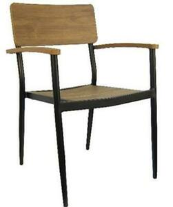 H d Commercial Seating 7181a Stackable Aluminum Plastic Wood Arm Chair
