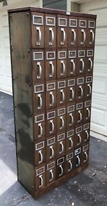 The General Fireproofing Co Industrial Steel 36 Drawer File Cabinet
