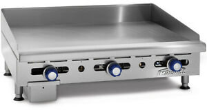 Imperial Range Imga 2428 24 Commercial Gas Griddle Manual Flat Grill 3 4 Plate