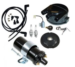 Distributor Tune Up Kit W 12 Volt Coil For John Deere A B D G 50 60 70 Tractor