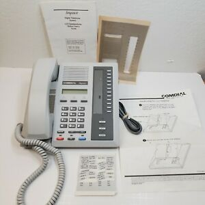 Comdial 8024s Impact Office Desk Telephone Lcd Business Phone Gray