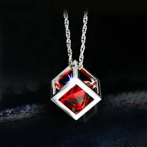 Magic Cube Car Rearview Mirror Pendant Hanging Charm Auto Ornament Decor red