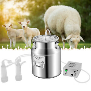 14l Electric Sheep Milking Machine Kits With Stainless Steel Milker Bucket