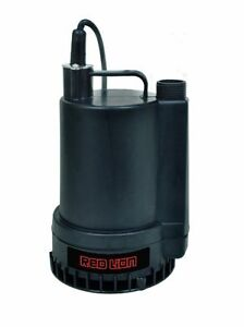 Red Lion Rl mp16 1300 Gph 1 6 Hp Thermoplastic Submersible Utility Pump