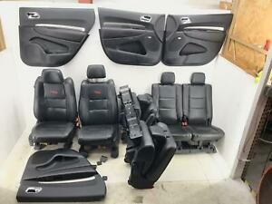 2011 2020 Dodge Durango Rt Front Rear Third Row Seat Set Black Leather With Red