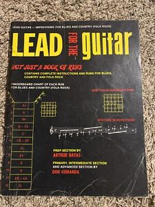 Lead For The Guitar Not Just A Book Of Runs 1973 $6.99