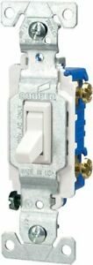 Eaton C1301 7ltw l 15 amp 120 volt Side And Push Wire Single pole Toggle Lighte