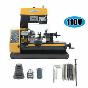 110v 3 in 1 Micro Multi function Machine Drilling And Milling Lathe Machine Us