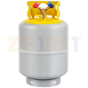 50lb Capacity Refrigerant Recovery Tank R410a r22 With Save Valve 1 4 Sae