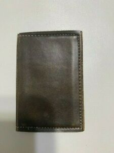 Vintage 70 s Genuine Brown Leather Personal Business Card Holder