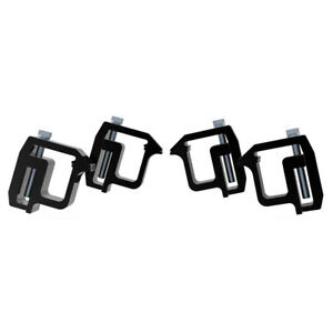 4xtruck Cap Topper Camper Shell Mounting Clamps Heavy Duty Replaces Tl2002 Black Fits Dodge Ram 1500