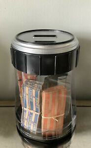 Battery Operated Coin Counter With Coin Tubes Coin Sorter 4 Compartments