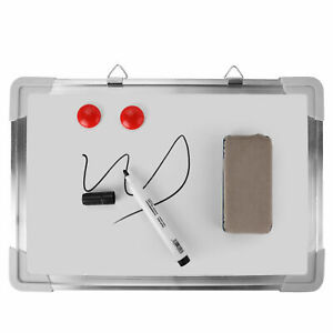 Small Office Home Dry Erase Board Wall Hanging Magnetic Whiteboard Set 13 X 8