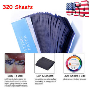 Dental Articulating Paper Lab Products Teeth Care Blue Strips 320 Sheets