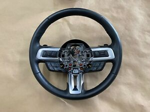 2018 2021 Ford Mustang Gt Leather Steering Wheel Black Automatic Oem