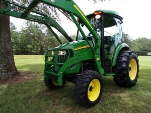 John Deere 4720 Cab Tractor And Loader E hydro Hst 66hp Turbo 4x4