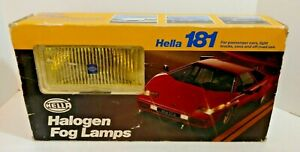 Vintage Nos Hella 181 Halogen Yellow Fog Lamps Made In Germany
