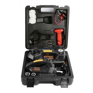 12v 4ton 3 In 1 Car Electric Hydraulic Floor Jack Lift With Impact Wrench Kit Us