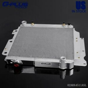Aluminum Racing Radiator Fit For 1987 04 Jeep Wrangler Yj Gm Chevy V8 Conversion