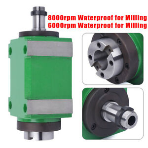 Spindle Unit Power Head 2hp Waterproof For Cnc Drilling Milling Machine 8000rpm