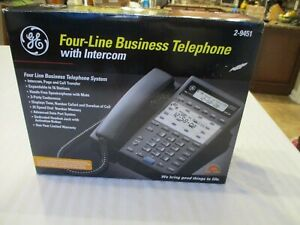 Ge 2 9451 Four line Business Office Phone W intercom Thomson Vintage New In Box